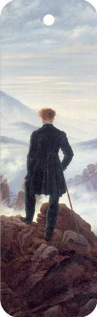 """Lesezeichen """"Wanderer über dem Nebelmeer"""""""