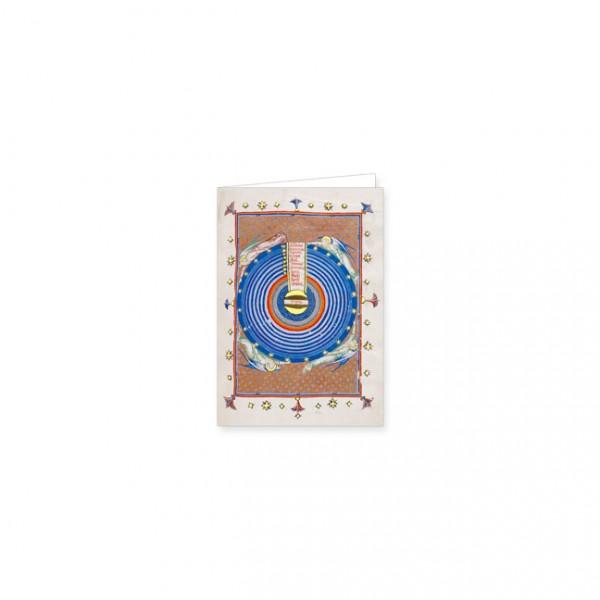 """Mini-Doppelkarten Gold """"Diagramm des Ptolemäischen Systems"""""""