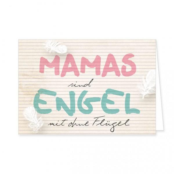 """Doppelkarte """"Mamas sind Engel"""""""