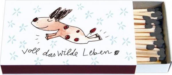 """Zündholz-Schachteln """"Voll das wilde Leben"""""""