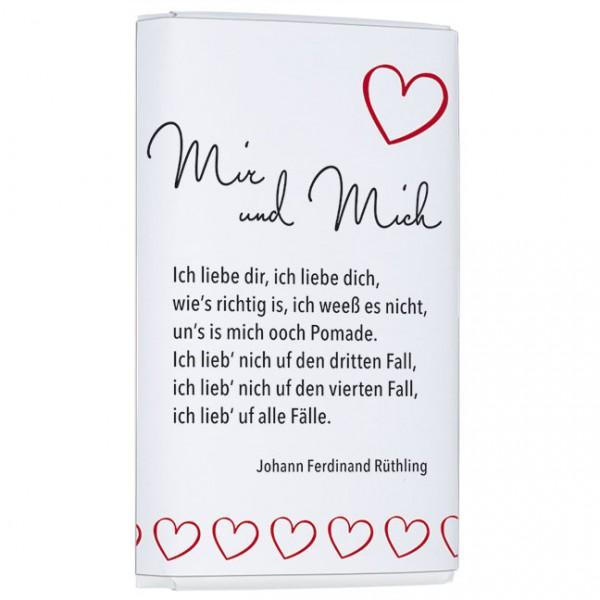 Schokoladentäfelchen 'Mir und Mich Berlinerisch'
