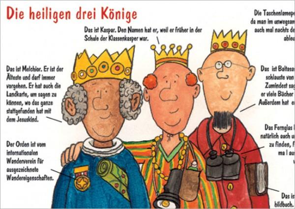 """Postkarte X-Mas """"Die heiligen drei Könige"""""""