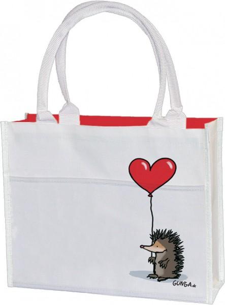 Einkaufstasche 'Igel mit Herz'