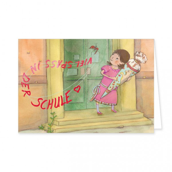 "Doppelkarte ""Schulmädchen"""