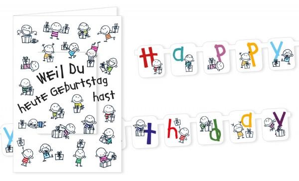 """Türchenkarte """"Weil du heute Geburtstag hast"""""""