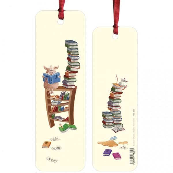 """Lesezeichen """"Bücher-Chaos"""""""