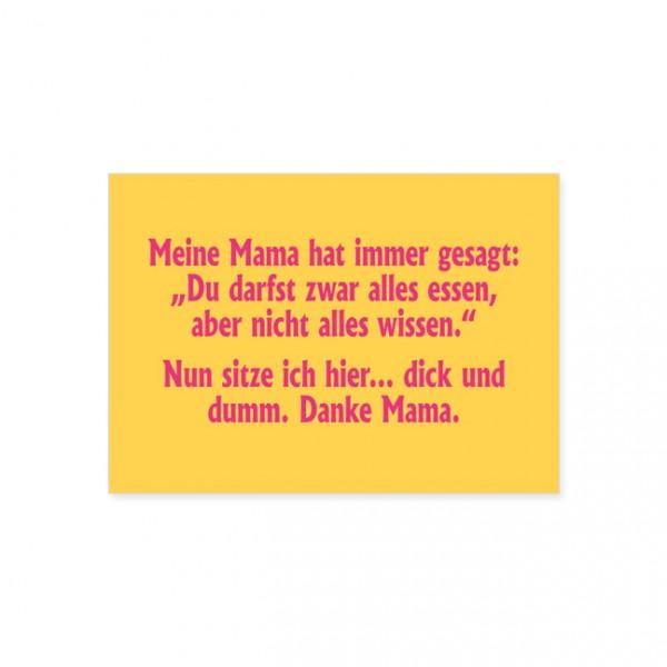 """Postkarte """"Dick und dumm"""""""