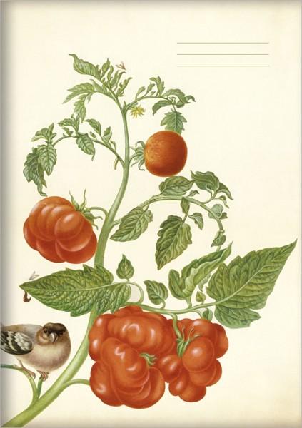 """gr. Kladden A5 """"Tomaten und Buchfink"""""""