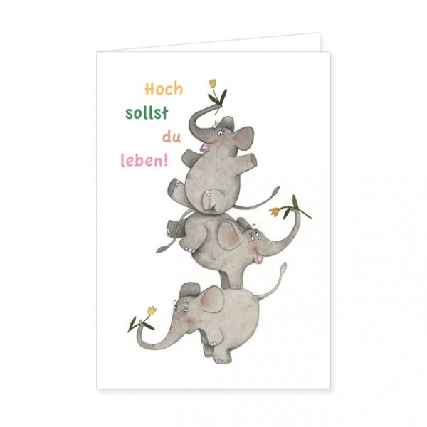 "Doppelkarte ""Hoch sollst du leben!"""