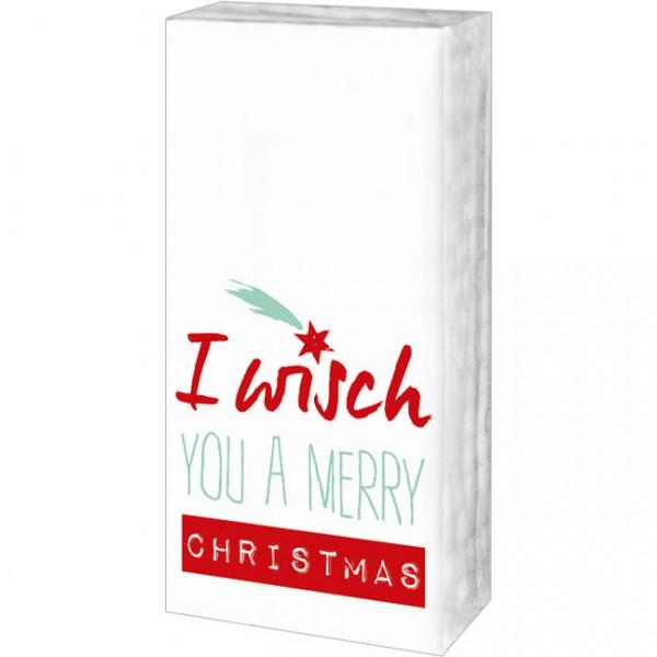 Taschentücher Weihnachten 'I wisch you'