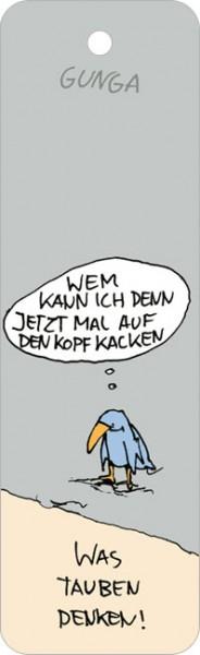 """Lesezeichen """"was tauben denken"""""""