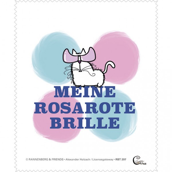 "Brillenputztuch ""Catzz - Rosarot"""