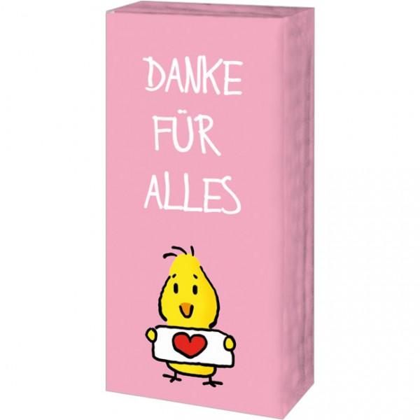 Taschentücher 'Danke für Alles' von Alexander Holzach