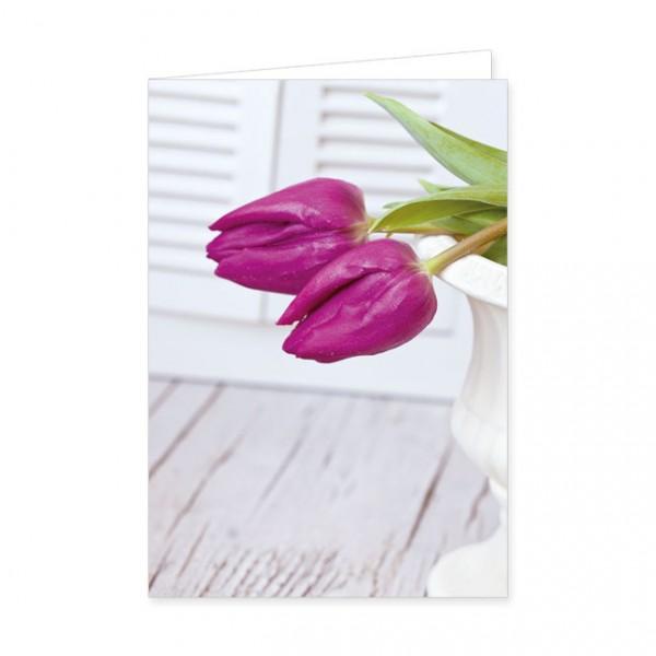 """Doppelkarten """"Zwei pinke Tulpen"""""""