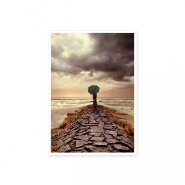 "Postkarte ""Spaziergang am Meer"""