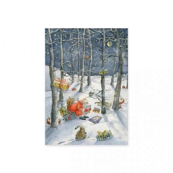 """Postkarte X-Mas """" Weihnachtswald """""""