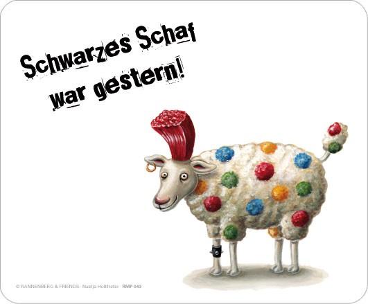"""Maus-Pad """"Schwarzes Schaf"""""""
