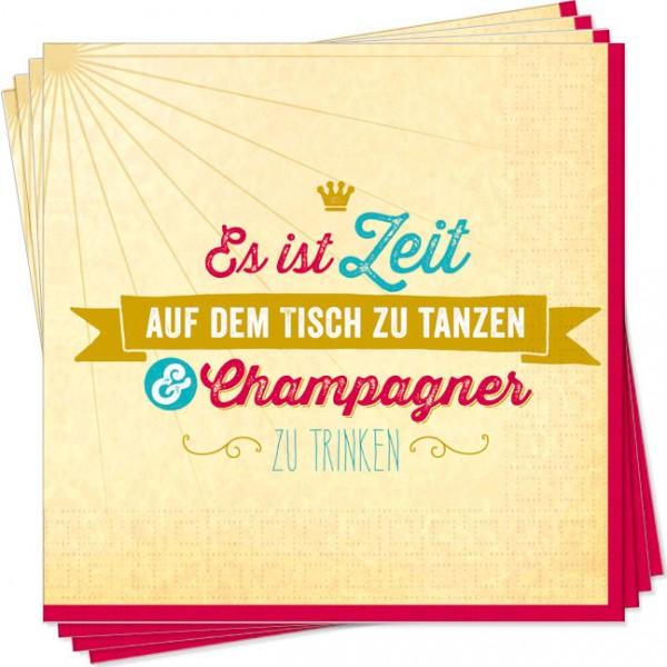 Servietten 'Champagner'