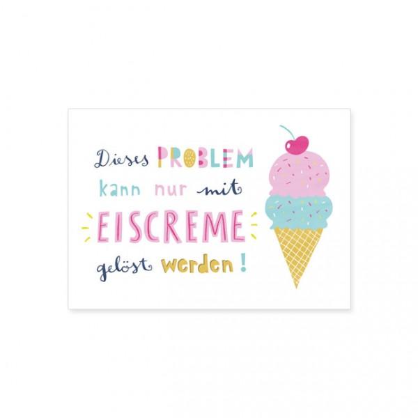 """Postkarte """"Eiscreme"""""""