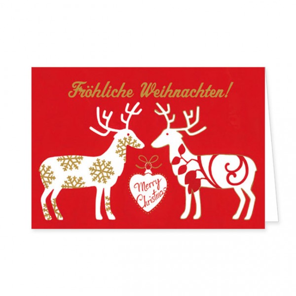 "Doppelkarten X-Mas ""Merry Christmas"""