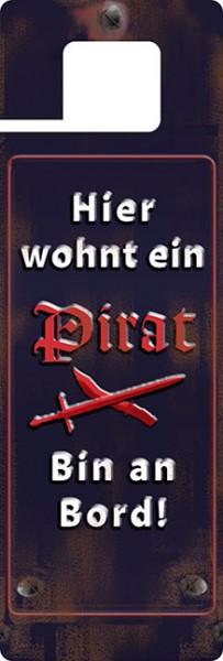 Türhänger 'Hier wohnt ein Pirat'