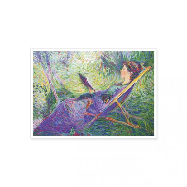 "Postkarte ""Curt Herrmann, 1854-1929, ""Sophie Herrmann in a deckchair"""""