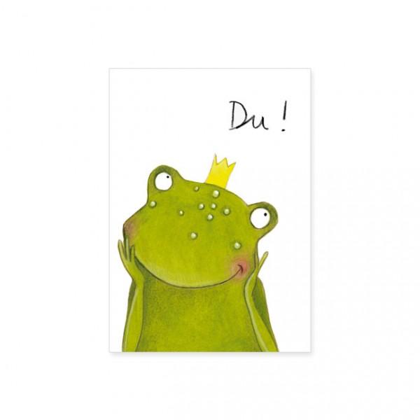 """Postkarte """"Frosch der Herzensbrecher"""""""