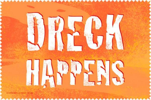 Laptoptuch 'Dreck happens'