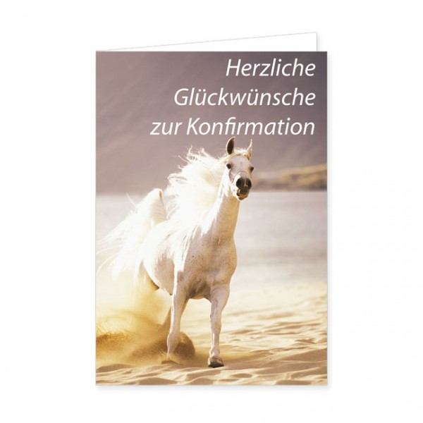 """Doppelkarte """"Herzliche Glückwünsche zur Konfirmation"""""""