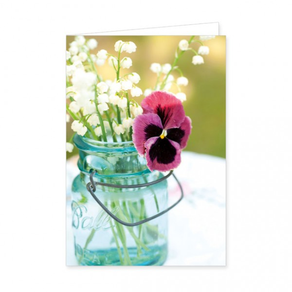 """Doppelkarte """"Ein Frühlingsstrauß im Glas"""""""