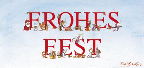 "XXL-Postkarte X-Mas ""Tilda – Frohes Fest"""