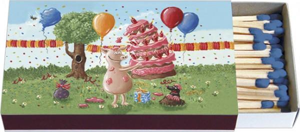 Zündholz-Schachteln 'Geburtstags-Chaos'
