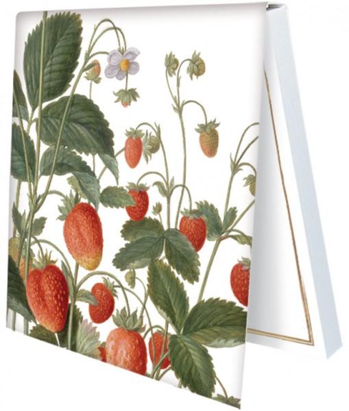 "Klebezettel ""Erdbeeren aus dem Nassau Florilegium"""