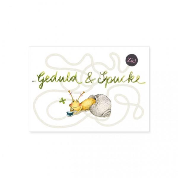 """Postkarte """"Geduld und Spucke"""""""