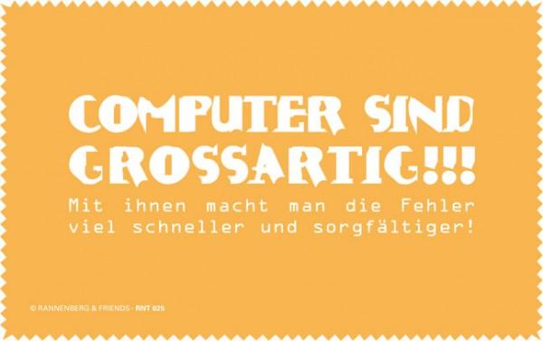 Netbooktuch 'Computer sind großartig'