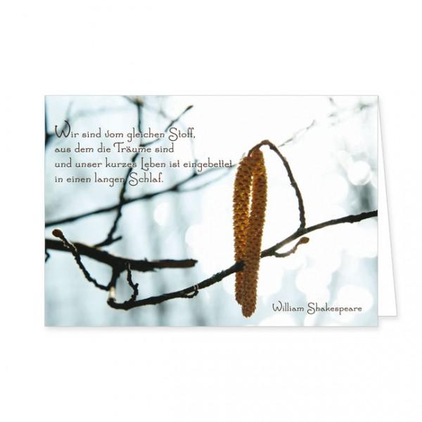 """Doppelkarte """"Wir sind vom gleichen Stoff, aus dem die Träume sind"""""""