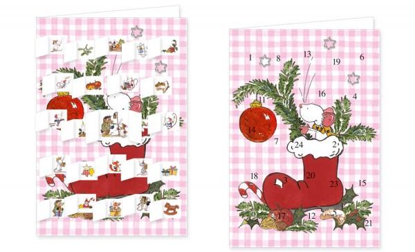 Adventskalenderdoppelkarte 'Tilda – Weihnachtsnascherei'