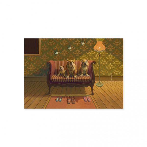 """Postkarte """"Doggs - Bunte Hunde / Creature Comforts"""""""
