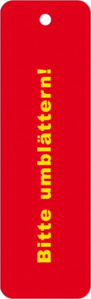 """Lesezeichen """"Bittte umblättern"""""""
