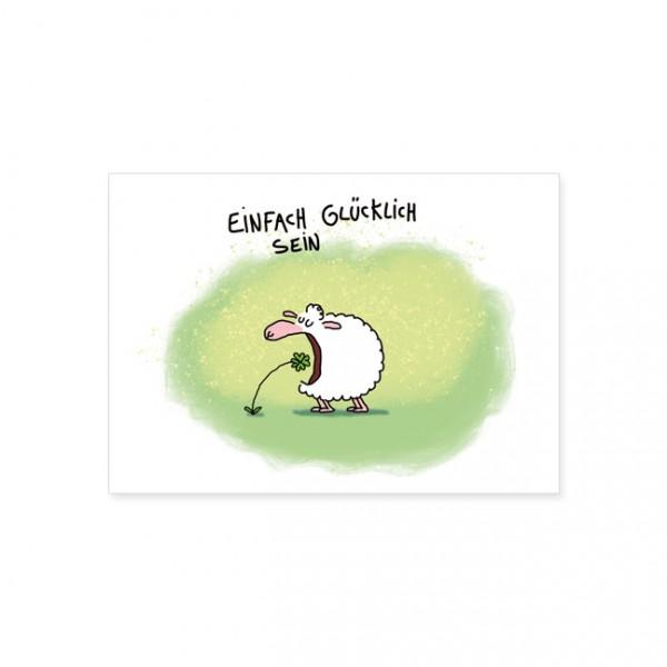 """Postkarte """"Einfach glücklich sein"""""""