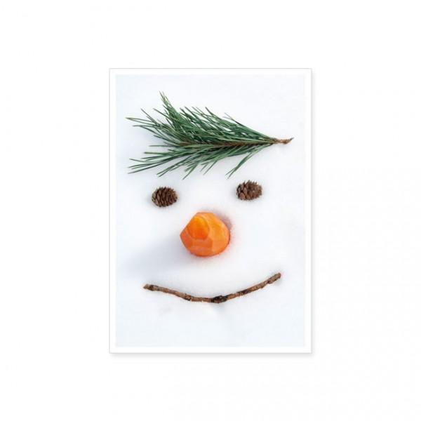 "Postkarte X-Mas ""Smiley im Schnee"""
