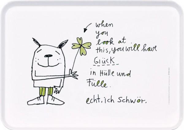 """Tablett small """"Glück in Hülle und Fülle"""""""