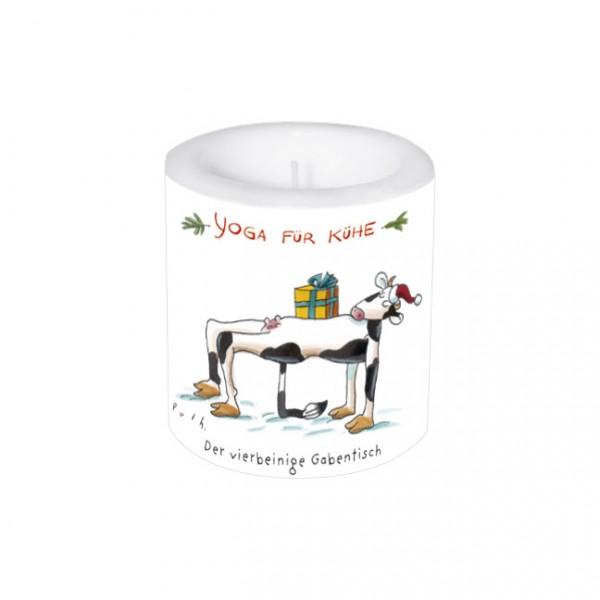 Lampionkerze Weihnachten 'Yoga für Kühe Weihnachten'