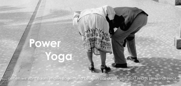 """XXL-Postkarte """"Power Yoga"""""""