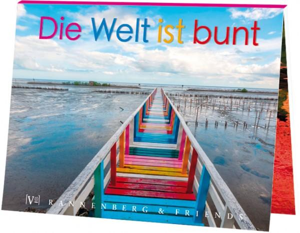 """Postkartenbuch """"Die Welt ist bunt"""""""
