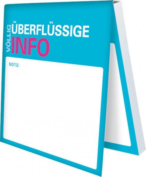 Klebezettel 'Büro Sprüche – Überflüssige Info'