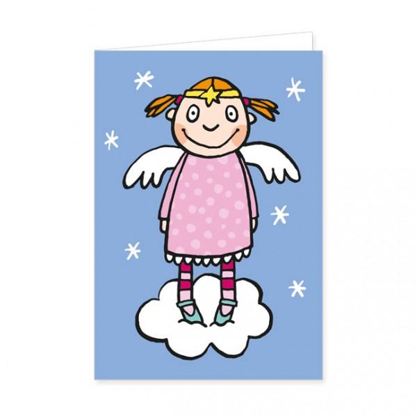 """Doppelkarten X-Mas """"Engel auf der Wolke"""""""