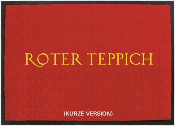 "Fussmatte ""Roter Teppich"""