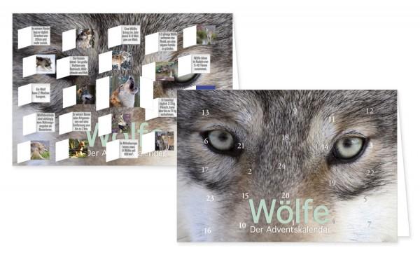 Adventskalenderdoppelkarte 'Wölfe'