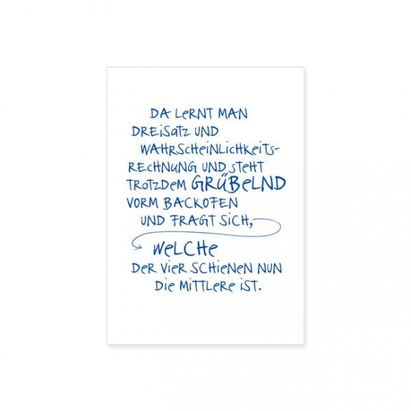 "Postkarte ""Dreisatz"""